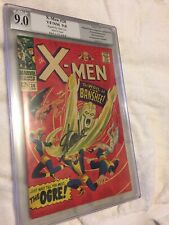 Uncanny X-Men #28 PGX 9.0 SIGNED BY STAN LEE ...WHITE PAGES!!!!