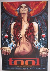 Tool Melbourne 2007 Concert Poster Art Ken Taylor Limited Second Edition 500 S/N