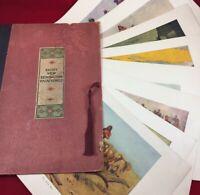 Eight Frederic Remington Lithographs, Collier's 1908-9, in Original Folio, RARE!