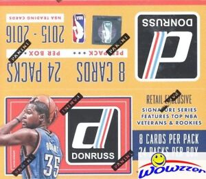 2015/16 Donruss Basketball MASSIVE Factory Sealed 24 Pack Retail Box-192 Cards!