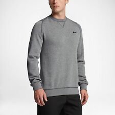 NIKE RANGE CREW MEN'S GOLF SWEATER  Carbon Heather Black 726526-091 Size S