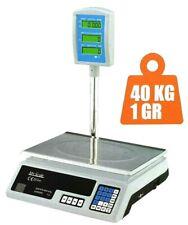 BILANCIA DA BANCO DISPLAY DIGITALE PROFESSIONALE 40kg PIATTO IN ACCIAIO INOX