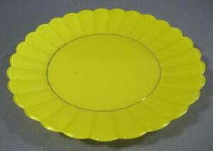 Vintage/retro 60s glass dinner plate flashed yellow finish