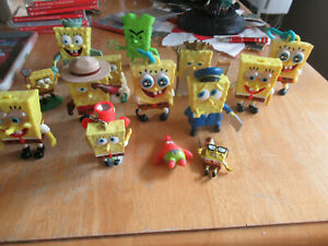 Lot Of 14 Spongebob Squarepants Action Figures