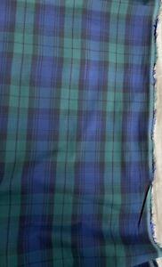 3.5 Metres Blue Green Tartan Check Plaid 100% Cotton Craft Christmas Fabric