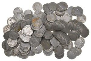 Lot of 200 No Date Buffalo Nickels 1913-1938 Collection 5 Rolls *0621