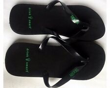 "Flip Flop Sandals, ""Midori"", black, beach slip on, Mens/Womens Size 11"