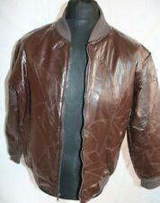 Vintage 1980s Leather Bomber jacket, brown leather patchwork