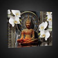 CANVAS WANDBILD LEINWANDBILD FOTO BUDDA ORNAMENT ORCHIDEE BLUMEN KUNST 3FX2315O4