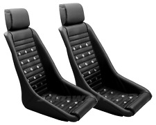 RETRO CLASSIC KPGC10 VINTAGE RACING BUCKET SEATS (Perforated W/ Grommets) PAIR