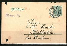 GANZSACHE Postkarte Deutsches Reich 1910 EMTINGHAUSEN KIRCHLINTELN gelaufen
