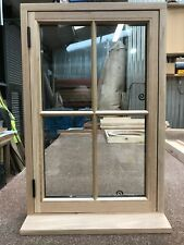 Handcrafted Georgian European Oak Window Solid Oak 600mm x 900mm Double Glazed
