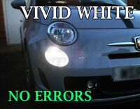FIAT 500 595 ABARTH 2007+ DAY TIME RUNNING ULTIMATE WHITE DRL LIGHT BULBS x2