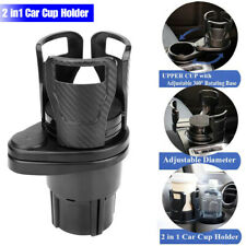 Adjustable 2in1 Multifunction Auto Car Seat Cup Holder Water Bottle Drink Coffee