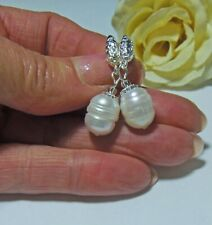 Handmade Baroque Pearl Earrings 11-12mm