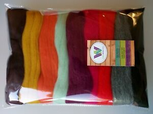 October set* Pure Merino Wool for Needle and Wet Felting packs of 30, 60, 90 g