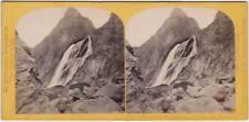 Original Vintage 1870s SV SWITZERLAND waterfall near Martigny, by W. ENGLAND