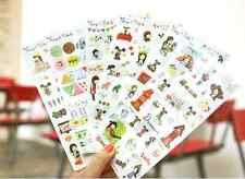 #51 My dog cute north Europe cartoon pvc stickers notebook diary deco 6 sheets