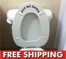 Put Me Down toilet Bathroom Decal Funny sticker vinyl wall art potty training