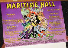 Orig MARITIME HALL Concert Promo Poster #24 1996 Vntg RITA MARLEY