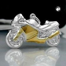 """ECHT SILBER Trendy Kettenanhänger """"Biker"""" 925 Silber bic. 27 mm x 15 mm bauchig"""