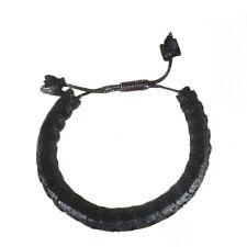 ECHTES SCHLANGENKNOCHEN Armband Schlange Knochen Snake Bone Bracelett BLACK B133