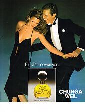 PUBLICITE ADVERTISING 044  1978  WEIL  parfum  CHUNGA