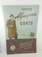 "Alpagora Genuine Coats in Store Clotihng Advertisement Kalasign 25"" x 37"" VTG"