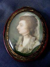 Antique 18th Century Portrait Miniature of a Lady c1770