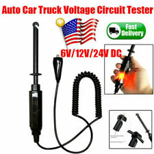 Automotive Car Truck Voltage Circuit Tester DC Hook Probe Test Pencil 6V/12V/24V