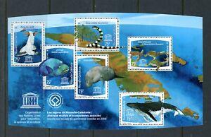X892 Neuf Caledonia 2008 Oiseaux Poisson Tortues Baleines Unesco Feuille MNH