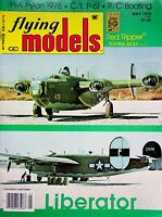 Vintage Flying Models Magazine May 1978 Liberator  m279