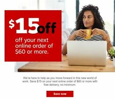 Staples 15 off 60 Coupon Online Coupon Expires 10/31/20 Fast Ship 15/60
