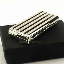 Thin Slim 10 PCS Plain  Copper Cigarette Case Box 3D Corrugate Chrome Plating