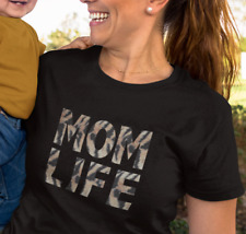 MOM LIFE in Leopard Tiger Print T-Shirt | Motherhood Tee New Mum Gift for Her