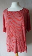 Marina Kaneva PLUS - size 18 - lovely Orange / Red sparkle TOP/ TUNIC - BNWoT