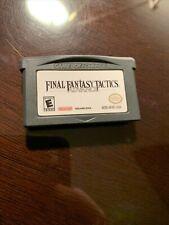 New listing Final Fantasy Tactics Nintendo Game Boy Advance Gameboy Original Authentic!