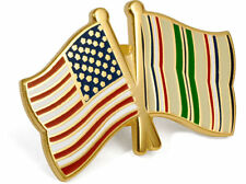 United States of America / Desert Storm Crossed Flags - USA Lapel Pin