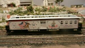 Roundhouse MDC Ltd Run HO USA Bicentennial 50' Overland Combine,Upgraded, Exc