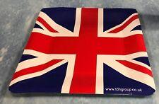 "12 UNION JACK SQUARE STRONG PAPER PLATES 9""/23.5cm BRITISH / PATRIOTIC EVENTS"