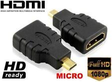ADATTATORE DA HDMI FEMMINA A MICRO HDMI MASCHIO TIPO D CONNETTORE RIDUZIONE HD