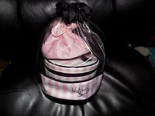 Victoria's Secret Three-Piece Travel Case / Makeup Bags New