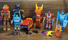 1986 Transformers G1 Lot of 7 Figures: Rodimus Prime, Hot Rot, Kup, Blurr, etc