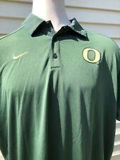 Men's Nike Dri-Fit University Of Oregon Ducks Polo Shirt Size XX - Large Green