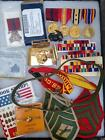 USMC+Marine+GWOT+Iraq+Afghanistan+Vet+Lot+of+Pins+Patches+Medals
