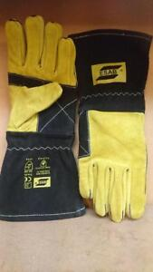 High Quality Esab Curved MIG Welders Gauntlets Welding Gloves x 1 pair size 9