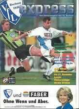 Fußball Programm: VFL BOCHUM - 1.FC NÜRNBERG 11.12.1999, 2. BUNDESLIGA 99/00