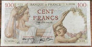 Billet de 100 francs SULLY 7 - 11 - 1940 FRANCE G.16186