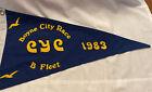 Vintage Canvas Charlevoix Yacht Club 1983 Burgee Boyne City Race B Fleet