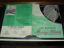 Prospectus Rateaux MASSEY HARRIS 1951 Tracteur Tractor Prospekt Traktor